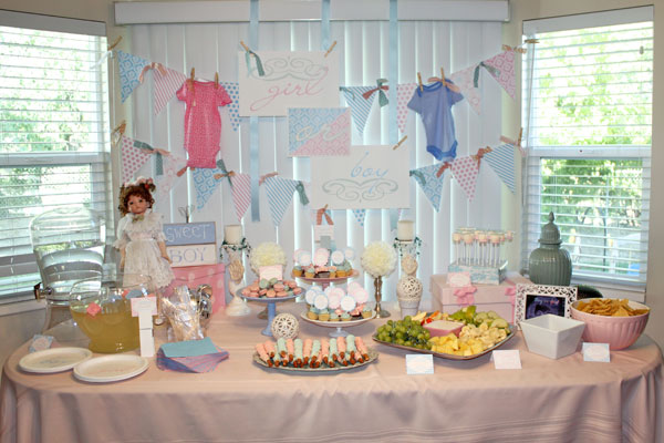 For the color scheme we decided to keep it generic... baby pink and baby blue. When you are pregnant with your first especially those two colors are all ... & Gender Reveal Party Decor | Snickerplumu0027s Party Blog | Snickerplum
