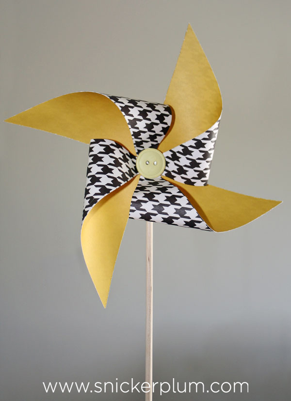 Easy DIY Paper Pinwheels  Baby Boy Blessing Snickerplums Party