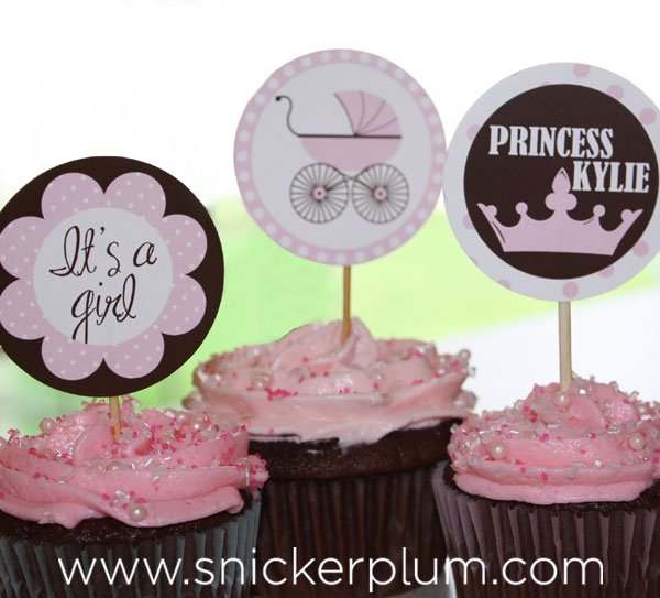 Custom Princess Themed Baby Shower | Snickerplum's Party Blog