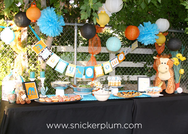 More Baby Giraffe Baby Shower Snickerplums Party Blog